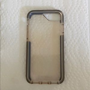 iPhone Case Clear and Grey Bodybuardz Protective